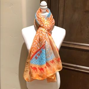 Printed Village scarf